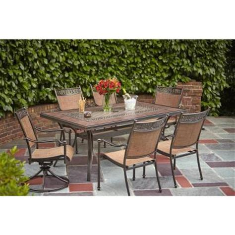 Patio Table Glass Replacement Home Depot Hton Bay Niles Park Led Lighted Glass Top Patio Dining