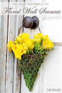 floral decor diy floral wall sconce for and summer decor home