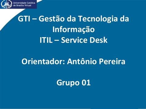 serminario itil service desk
