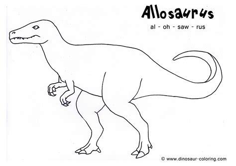 allosaurus coloring