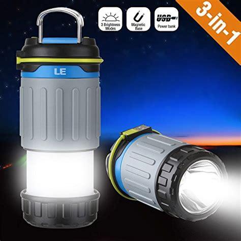 usb led le le portable led cing lantern 3200mah power bank usb