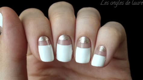 Ongle Blanc Et Or by Ongles Or Et Blanc