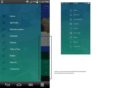 android drawer layout width android how navigation drawer will take full screen