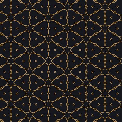 islamic style seamless pattern vector free download islamic pattern design on black background vector free