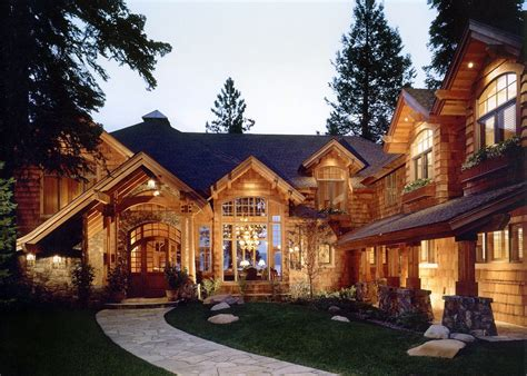 cabin style houses mountain architects hendricks architecture idaho mountain and lake home curb appeal