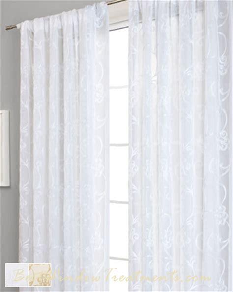 Paris Voile Curtain Drapery Panels