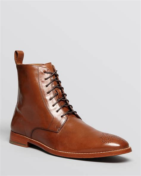 cole haan s boots cole haan lionel dress boots in brown for lyst