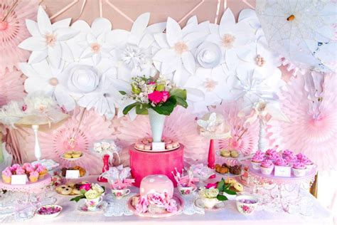 pink wedding shower themes pink and white high tea bridal shower bridal shower