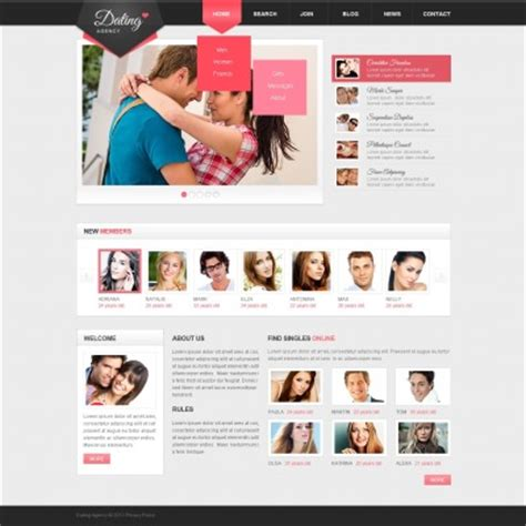 17 Best Dating Website Templates Best Dating Website Template
