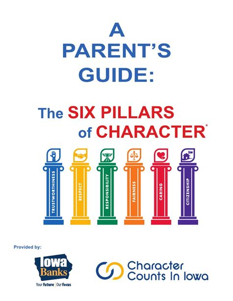 the parent s guide to a parent s guide to the six pillars of character