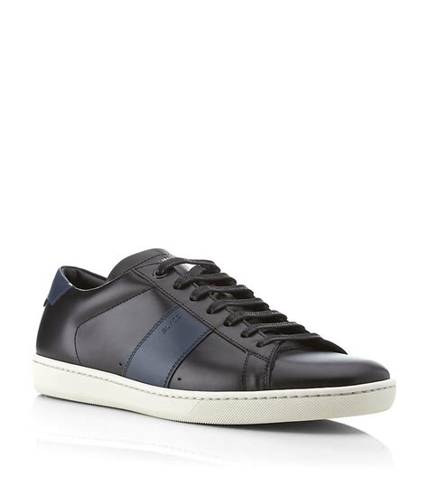 laurent sneakers laurent sl02 leather sneaker in black for lyst
