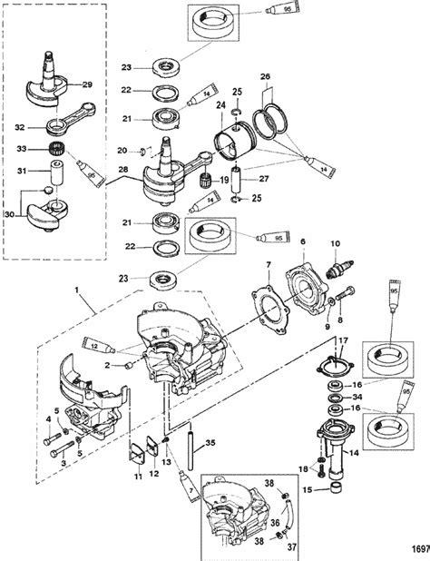 Mercury Marine 4 Hp 2 Stroke Cylinder Block Crankshaft