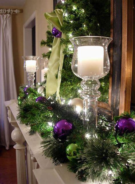 Christmas Flower Centerpieces - 35 breathtaking purple christmas decorations ideas all
