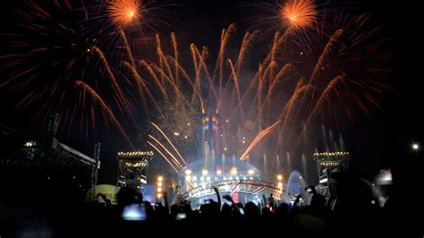 new year celebration in quezon city revellers as fireworks explode the quezon