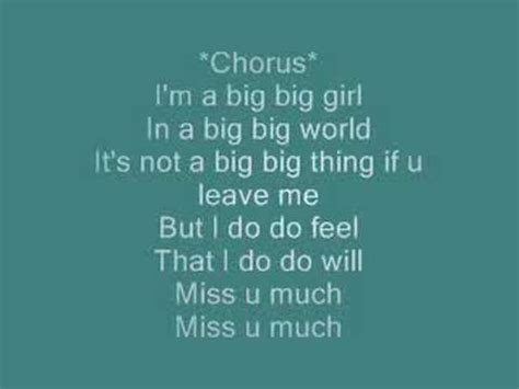 you bid big big world with lyrics