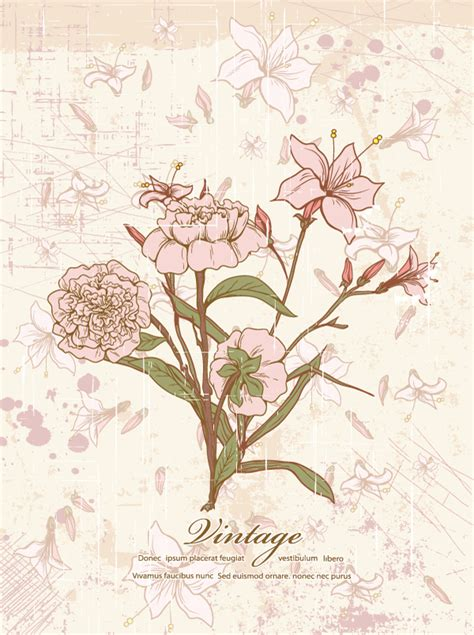 70 free graphics vintage vector flowers and floral