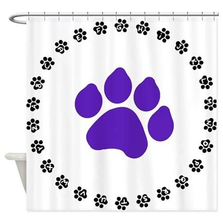 paw print shower curtain purple paw print shower curtain by showercurtainsrus1
