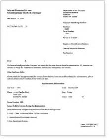 irs audit letter sle free printable documents