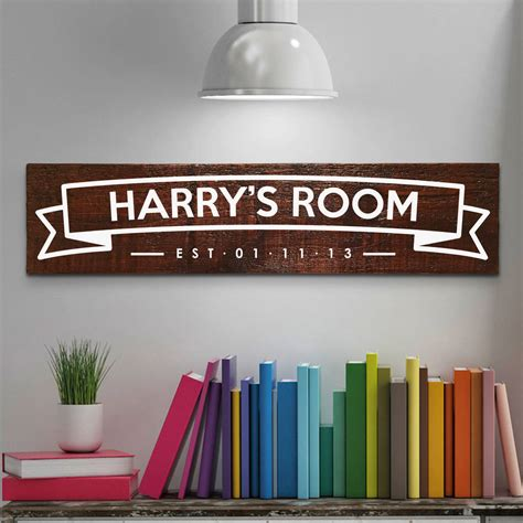 personalised children s room name sign by nineteen74