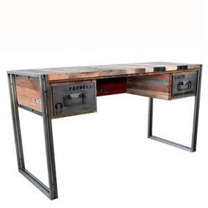 meubles industriels loft bureau en bois et m 233 tal pi 232 ce