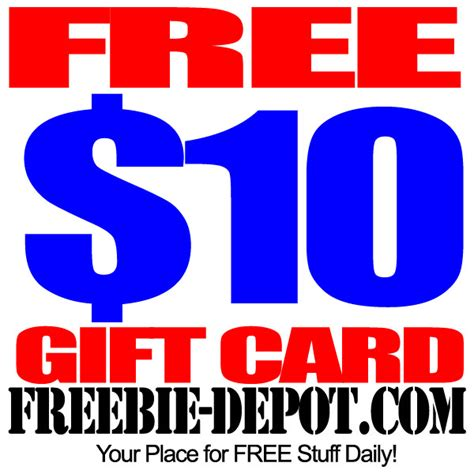 Free Gift Cards - easy free 10 gift card freebie depot