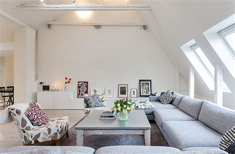 Colour Schemes For Living Rooms 5537 by Attic Apartment Design With A Story Living Area