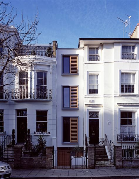narrow homes modern narrow house in london built within a slot which