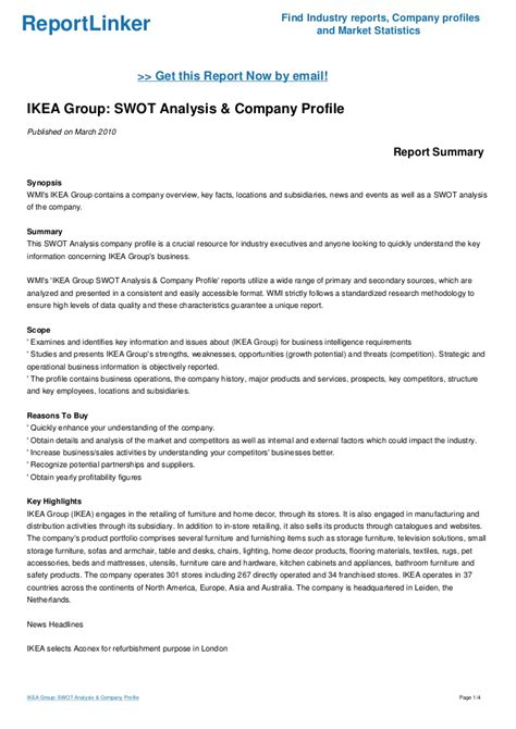 ikea company ikea group swot analysis company profile