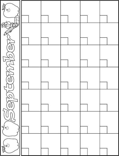 classroom calendar template september calendar template school ideas