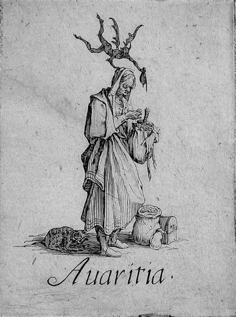 Avaritia, Greed. The Seven Deadly Sins by Jacques Callot