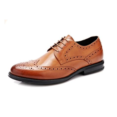 Brogue Pointed Oxfords genuine leather brogue carved oxfords pointed toe
