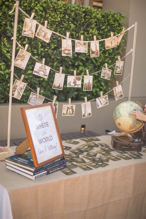 travel themed table decorations kara s ideas vintage travel bar mitzvah kara