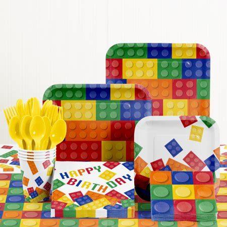 birthday themes walmart building blocks birthday party supplies kit walmart com