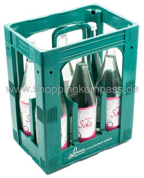1 kasten wasser mineralwasser st leonhards mineralwasser aqua sola