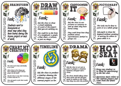 Activities Graphic 1 30 colourful plenary cards for pupil led lessons by