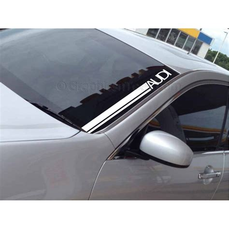 Audi Decals by Audi Windscreen Sticker Decal Graphic