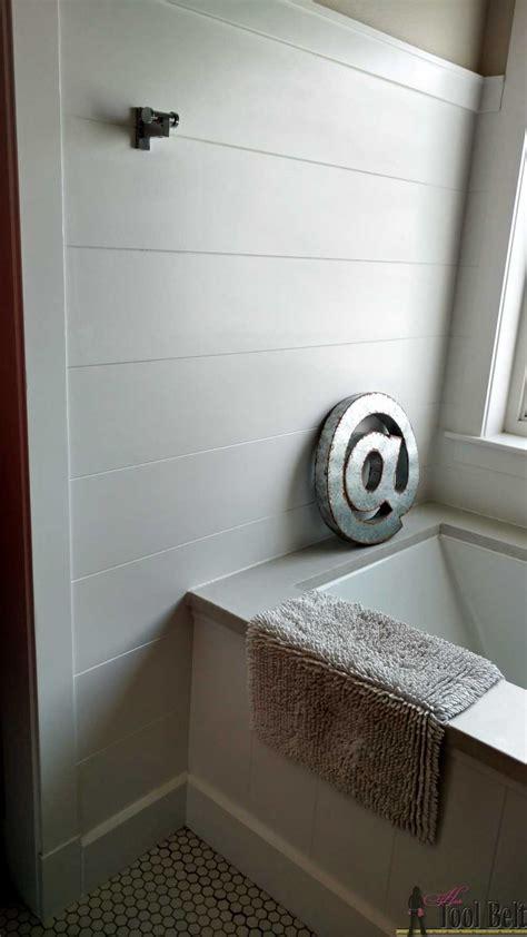 shiplap tub surround diy shiplap wall panel her tool belt