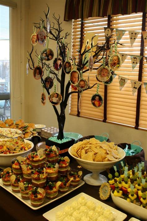 picture tree centerpiece food table with picture tree centerpiece ideas