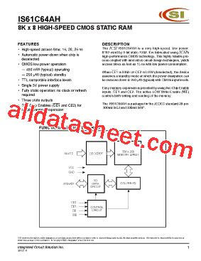 all about integrated circuits pdf is61c64ah datasheet pdf integrated circuit solution inc