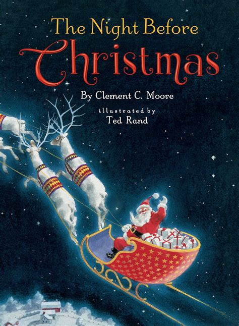 night  christmas book  clement  moore ted rand official publisher page