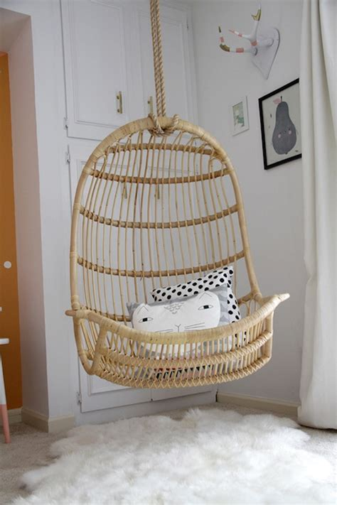 swinging chair for bedroom two s company hanging rattan chair contemporary girl s
