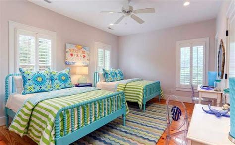 blue color schlafzimmer bedroom colors ideas blue and bright lime green