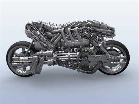Motorrad I Robot by Terminator Robot Motorcycle 3d Model Buy Terminator