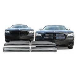 cci 174 dodge charger 2007 2010 4 pc chrome grille