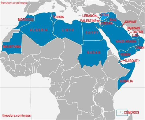 arab map countries league of arab states arab league member states