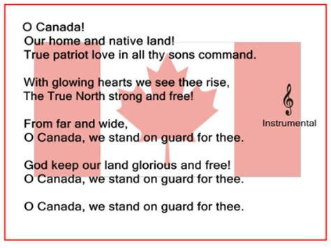 o canada lyrics printable version smart exchange usa o canada with mp3