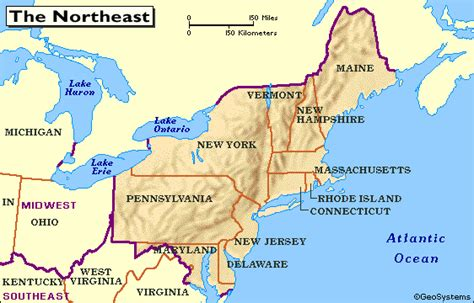 map usa northeast region history and culture a 2012 2013 northeastern of united