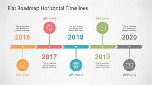 Powerpoint Timeline Template Free by Flat Roadmap Horizontal Timelines For Powerpoint