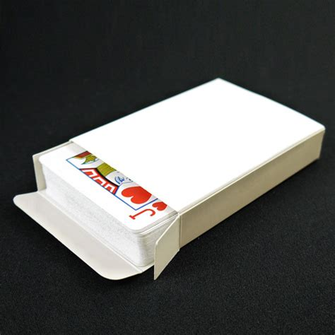 box of cards blank box sized card box by propdog