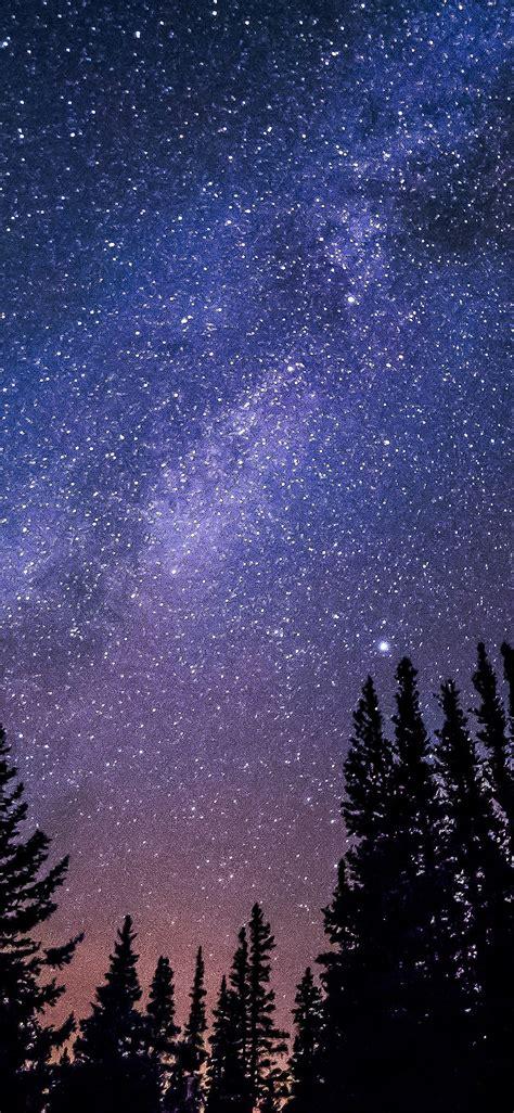 nl night starry sky aurora winter wallpaper